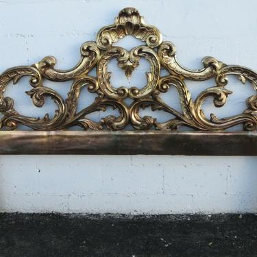 French Carved Gold Distressed King Size Headboard 2446
