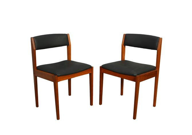 Four Teak Dining Chairs Danish Modern Mid Century Modern by HearthsideHome