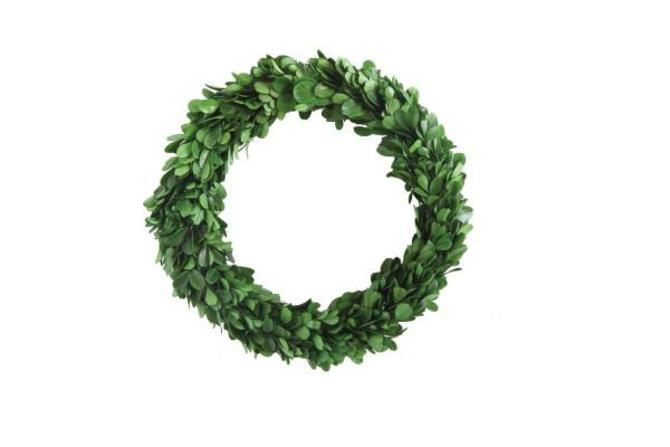 Preserved-Boxwood Wreath - FREE SHIPPING