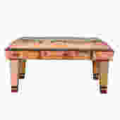 Vintage Post-Modern Solid Cherry 'Object Furniture' Upholstered Bench