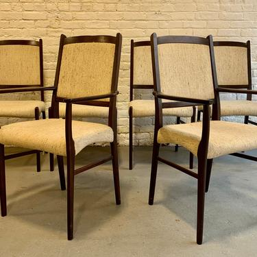 Danish Mid Century Modern ROSEWOOD DINING CHAIRS, Set of 6 by CIRCA60