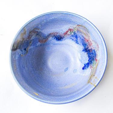 Beautiful Vintage Purple Blue Glazed Ceramic Hand Made Bowl / Ramekin by PortlandRevibe