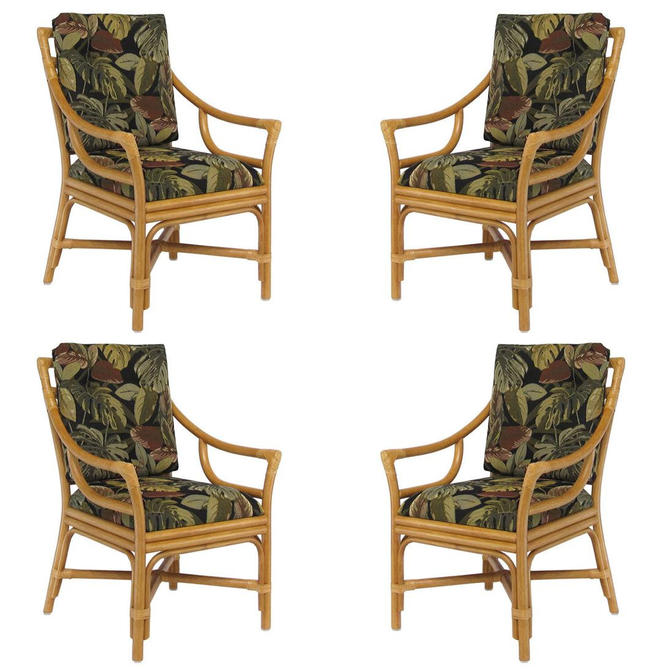 """Single Strand Ring Back """"Concord"""" Chair Rattan Dining Armchair, Set of 4 by HarveysonBeverly"""