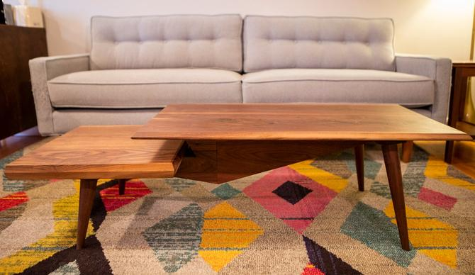 MCM Tiered Walnut MCM Style Coffee Table by MathesonWoodwork