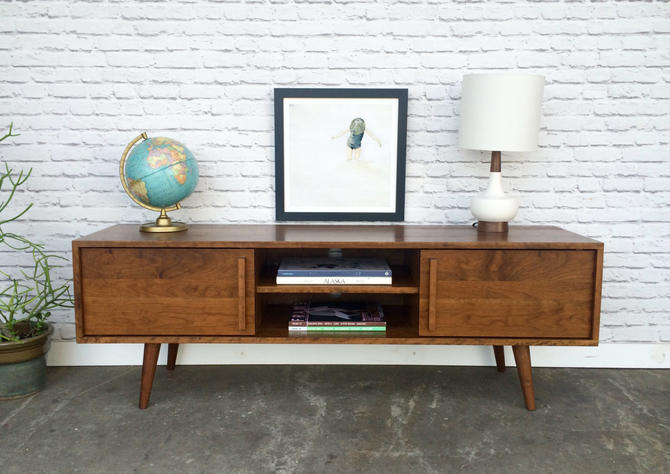 Kasse TV Stand - Solid Cherry -  Teak Finish - In Stock! by STORnewyork