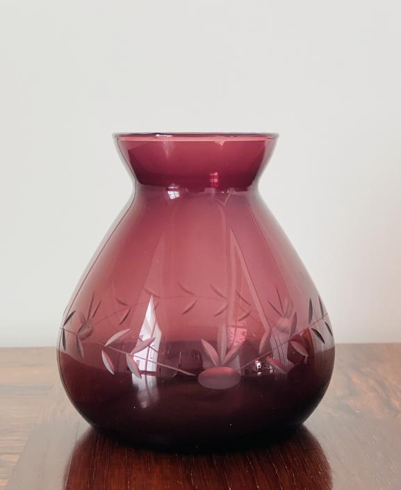 Vintage Glass Bulb Forcer, Amethyst