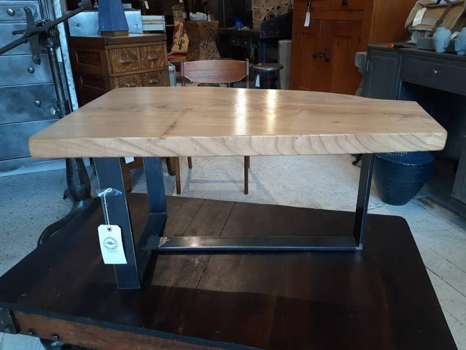 Live edge elm coffee table by StateStreetSalvage