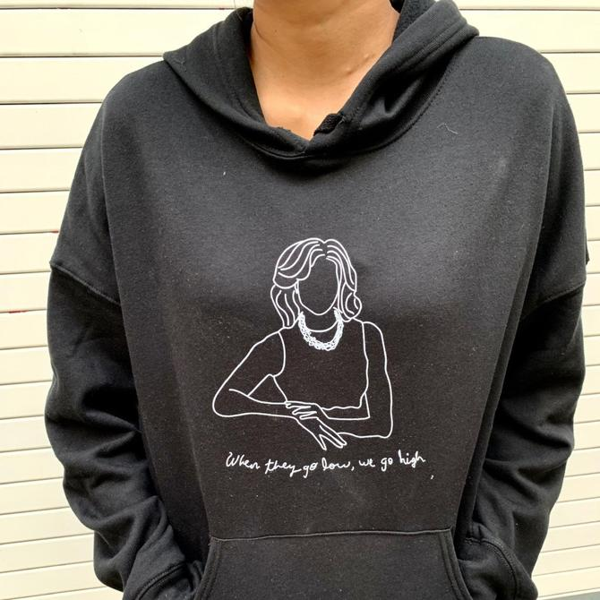 'When they go low, we go high' Sweatshirt