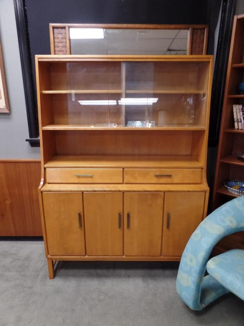 Mid Century Modern Solid Birch China Cabinet From The Mates Collection By Conant Ball