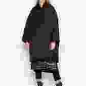 Sweater Collar Hooded Coat