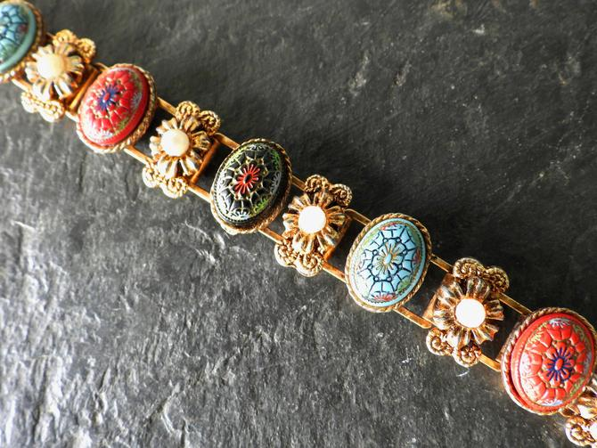 Vintage Pressed Glass Book Chain Bracelet by LegendaryBeast