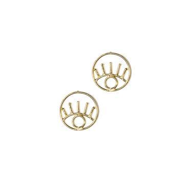 Eye Outline Earrings by Rover & Kin