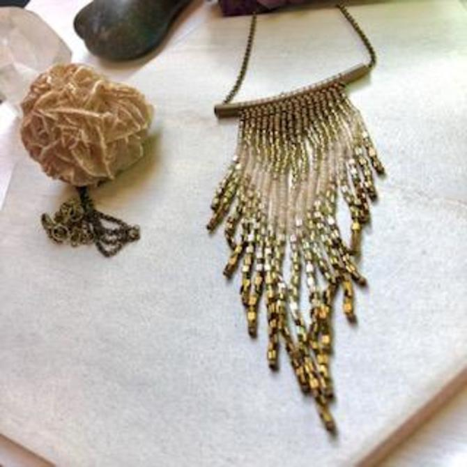 Fringe Necklace in Earth tones