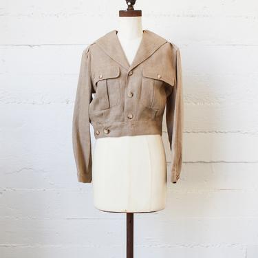 vintage 1980s ralph lauren safari linen jacket by blossomvintageshop