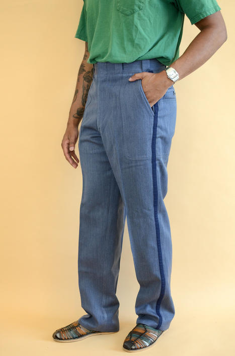 Vintage Postal Service Military Heavy Duty High Rise Pants Trousers 32x32 32x33 by MAWSUPPLY