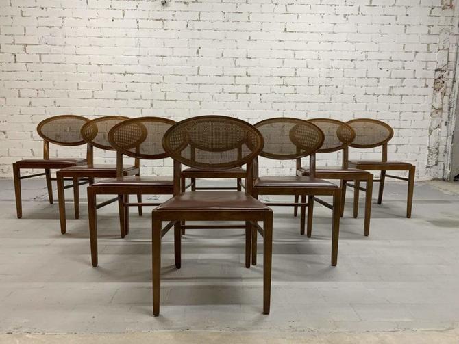 Set of 8 Modernist Andreu World Zarina Vintage Dining Chairs by William Sawaya