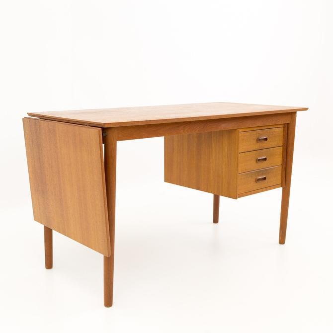 Arne Vodder Mid Century Modern Danish Teak Drop Leaf Desk - mcm by ModernHill