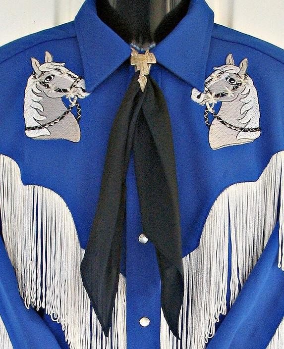 Vintage Western Neck Scarf, Apache Tie, Neck Tie, Square Dance or Rockabilly, True Black, Bandana by ShowinStyle