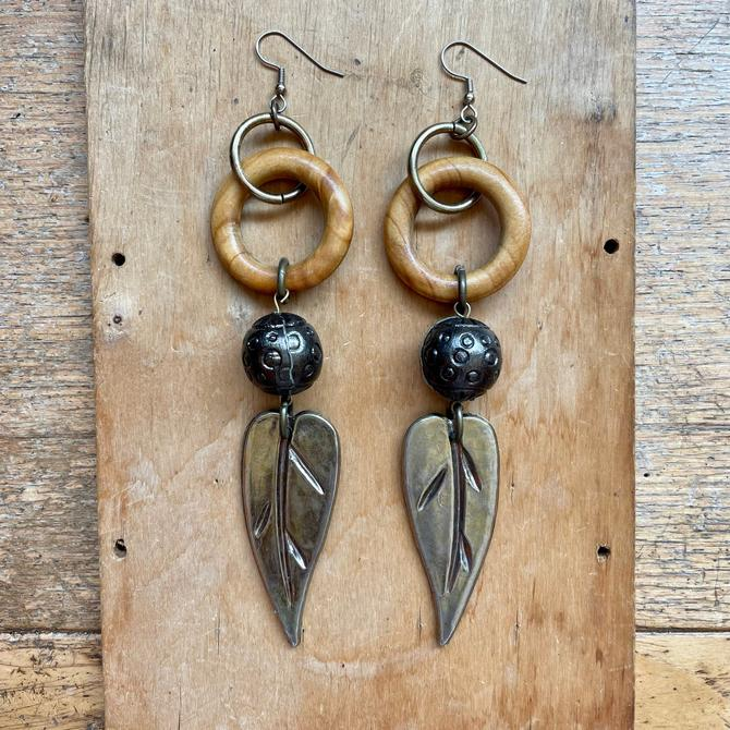 Handmade Oversized Earrings Boho Jewelry Woman Owned Business Small Gifts by LoveItShop
