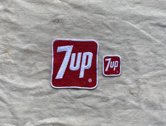 Vintage Pair of 7Up Clothing Patches by NorthGroveAntiques