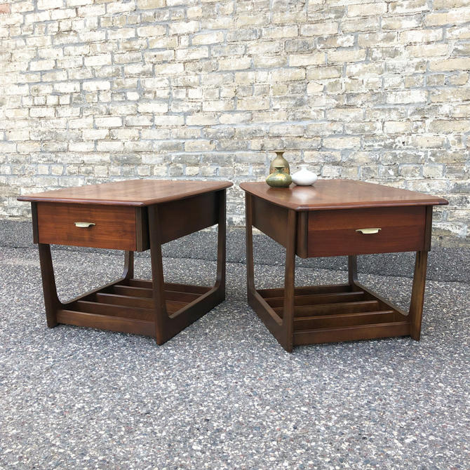Mid-century Walnut Accent Tables