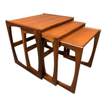 "Vintage British Mid Century Modern Teak ""Quadrille"" Nesting Tables by G Plan by AymerickModern"