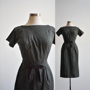Vintage Green & Black Cocktail Dress by milkandice