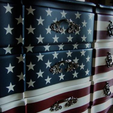 "The ""Waving"" American Flag Dresser by Artisan8"