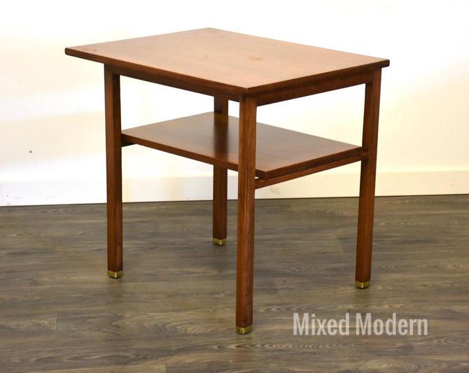Edward Wormley for Dunbar Walnut End Table by mixedmodern1