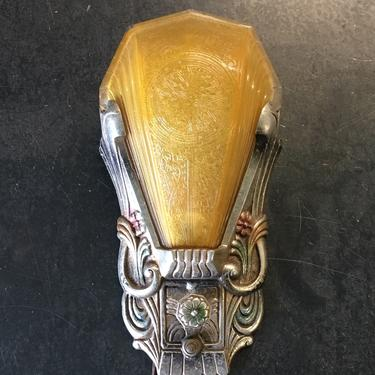 Single Art Deco Wall Sconce #1863 by vintagefilament