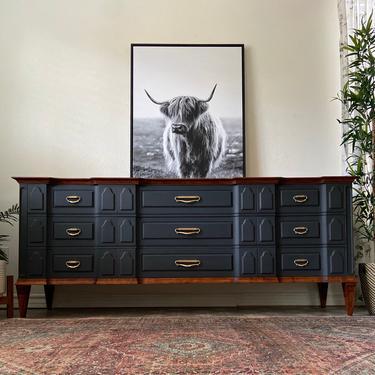 Vintage Mid Century Modern Dresser Credenza by Romweber *Local Pick Up Only by BluePoppyFurniture