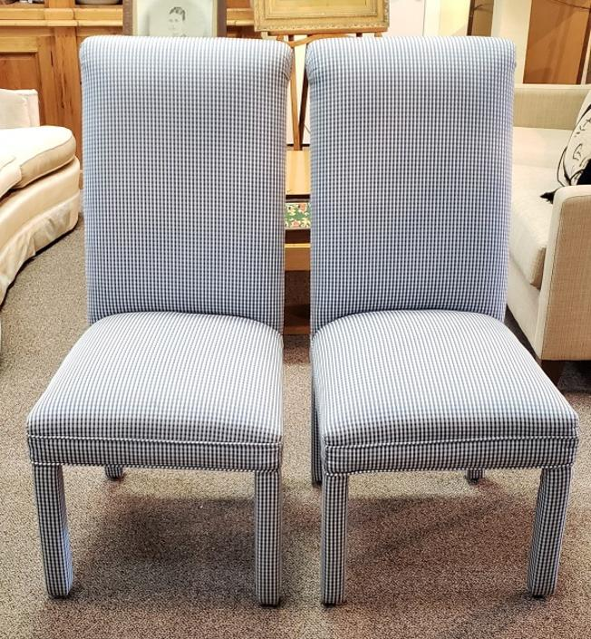 Item #SD114 Pair of Upholstered Side Chairs