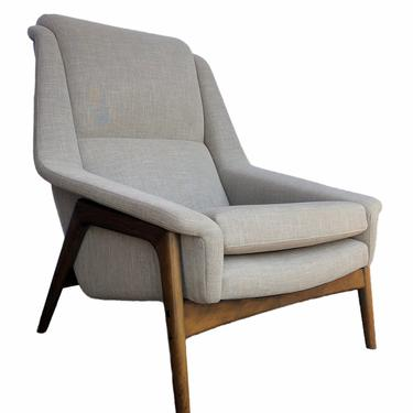 Free Shipping Within US - Vintage Mid Century Modern Sofa Lounge Chair by Folke Ohlsson for Dux Newly Upholstered by BigWhaleConsignment