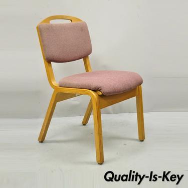 Vintage Sauder Designare Pink Bentwood Stacking Side Chair