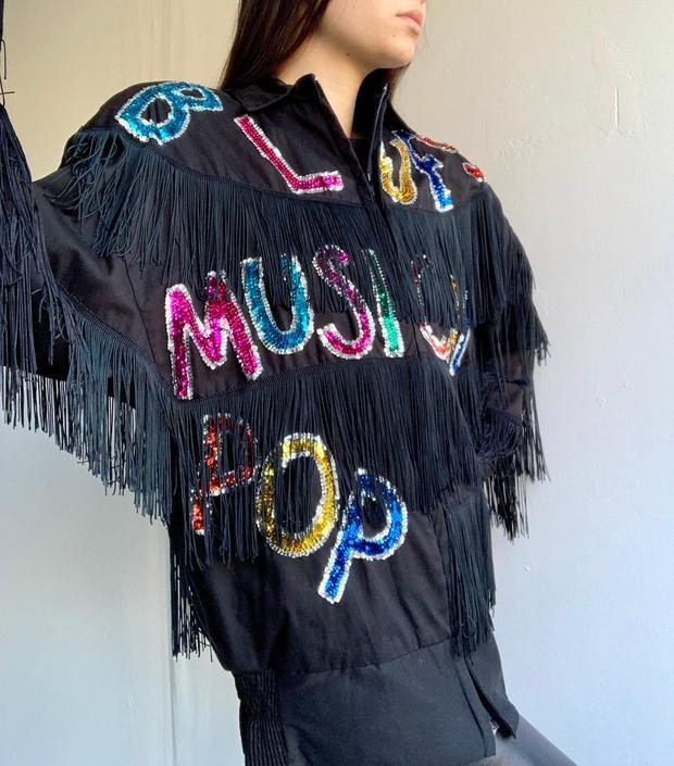 Bonnie Boerer Unlimited 80's Music Styles Sequin Fringe Jacket by VintageRosemond