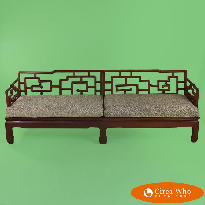Sectional Fretwork Settee