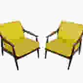 Lounge Chairs Walnut Danish Modern Mid Century Modern by HearthsideHome