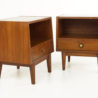 Albert Parvin for American of Martinsville Mid Century Nightstands - Pair  - mcm by ModernHill