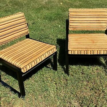 MCM Retro Mid Century Lane black lacquer chairs