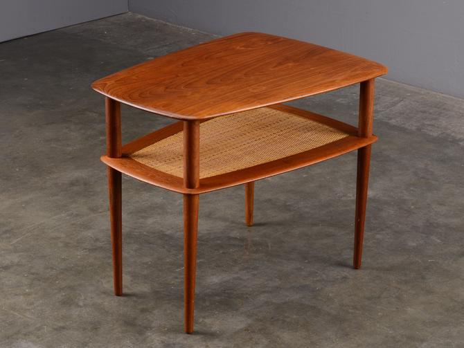 Peter Hvidt End Table Solid Teak Mid Century Danish Modern by MadsenModern