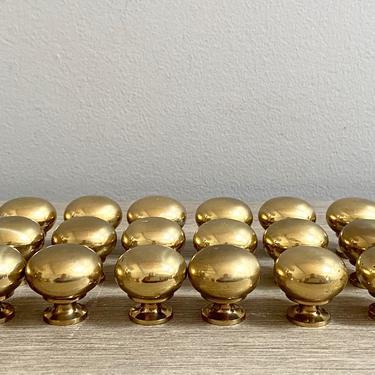 Set Brass Knobs Pulls Gold Dresser Cabinet Handles Hardware Round Knob by ModRendition