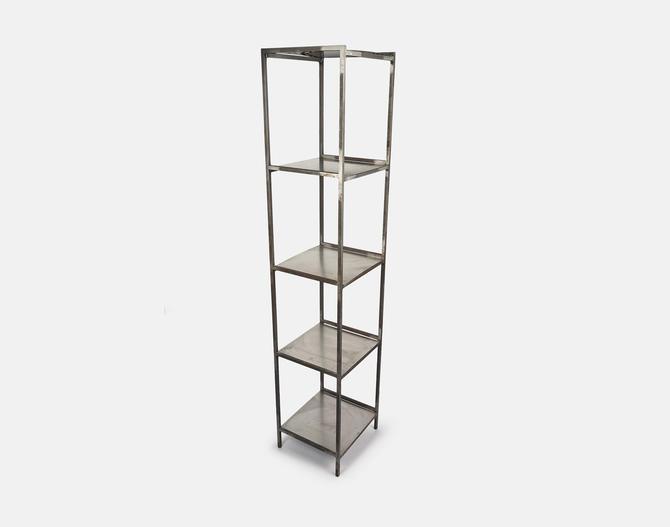 Vintage Industrial Metal Shelf Bookshelf Planter Stand by VintageInquisitor