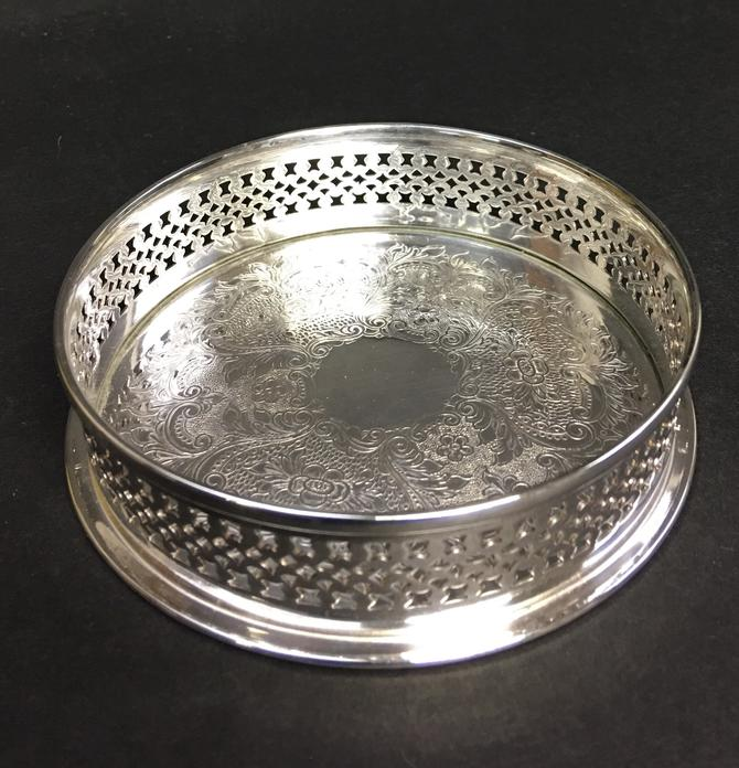 Vintage Wallace Silverplate Wine Coaster