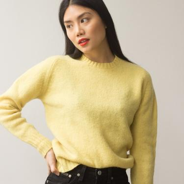 1960s Banana Creme Pie Lambswool Knit by waywardcollection