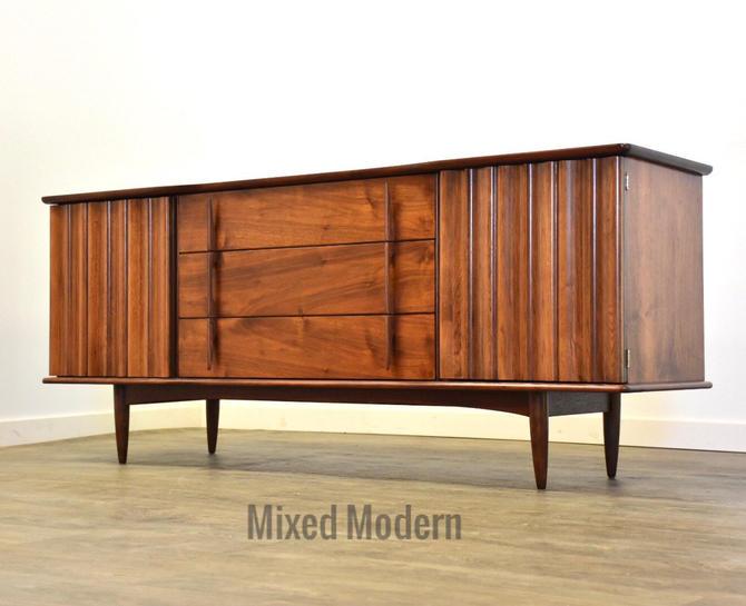 Walnut Dresser Credenza by United Furniture by mixedmodern1