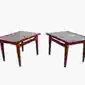 Finn Juhl Teak Side Tables France & Daverkosen John Stuart Inc Danish Modern Model 535 by HearthsideHome