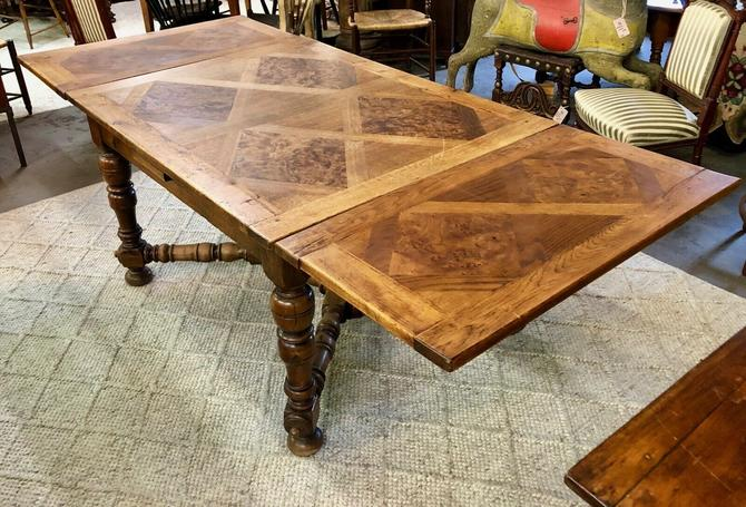 Antique French Provincial Extension Dining Table