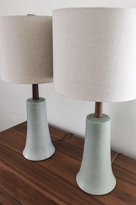 Flared Base Martz  Lamps Rare Pair Marshall Studios American Modern Vintage Mid Century lamp by CaribeCasualShop
