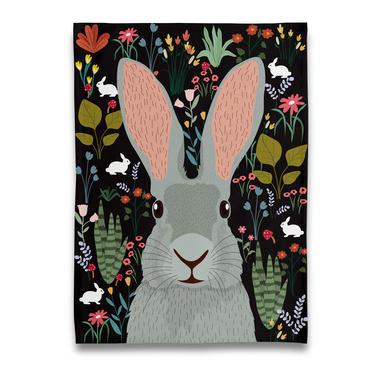Garden of Bunny Rabbit Tea Towel