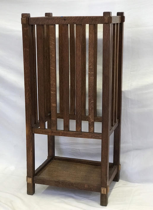 Free and Insured Shipping Within US - Antique Umbrella Stand Entryway Table Storage by BigWhaleConsignment